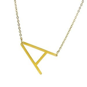 SAVVY CIE 14K GOLD PLATED INITIAL PENDANT NECK